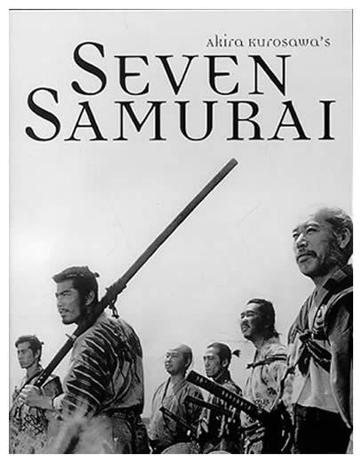 Seven Samurai, aka Shichinin no Samurai, directed by Akira Kurosawa akira kurosawa