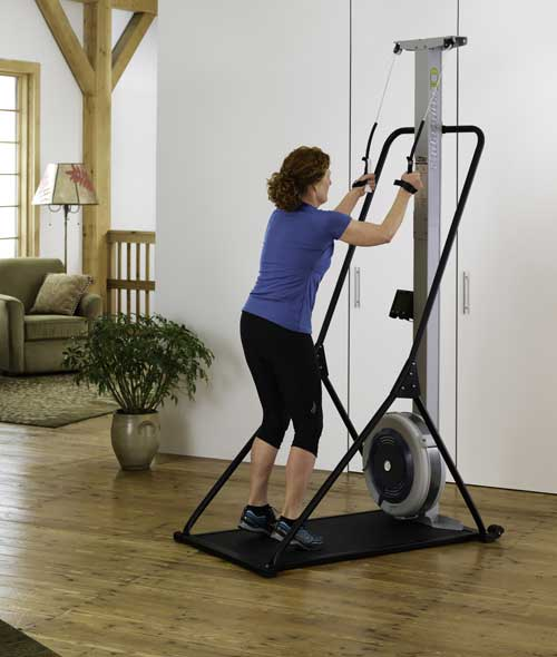 exercise machine that looks like your skiing