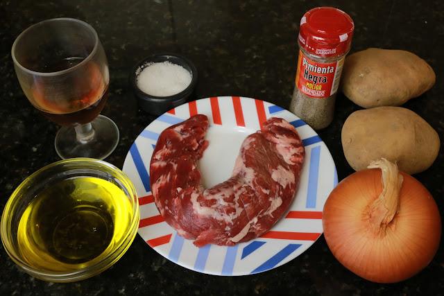 Ingredientes para solomillo de cerdo ibérico al horno