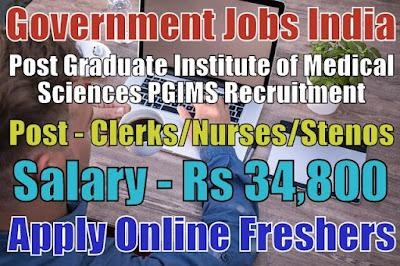 PGIMS Recruitment 2019