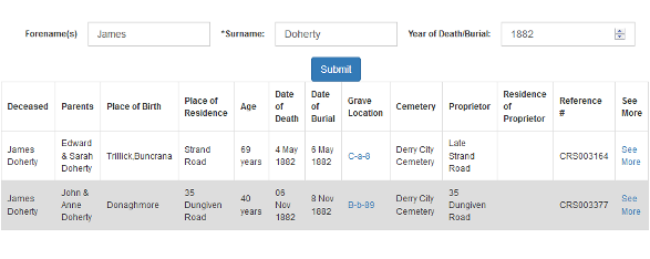 IrishGenealogyNews: Derry City Cemetery Burial Records database launched
