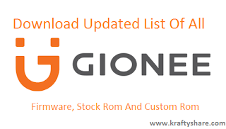 gionee stock rom download