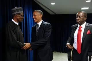 Photos: Pres. Buhari pictured with President Obama at UN meeting