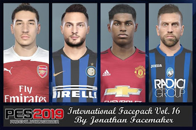 PES 2019 Facepack International vol 16 by Jonathan Facemaker