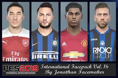 PES 2019 Facepack International vol 16 by Jonathan Facemaker