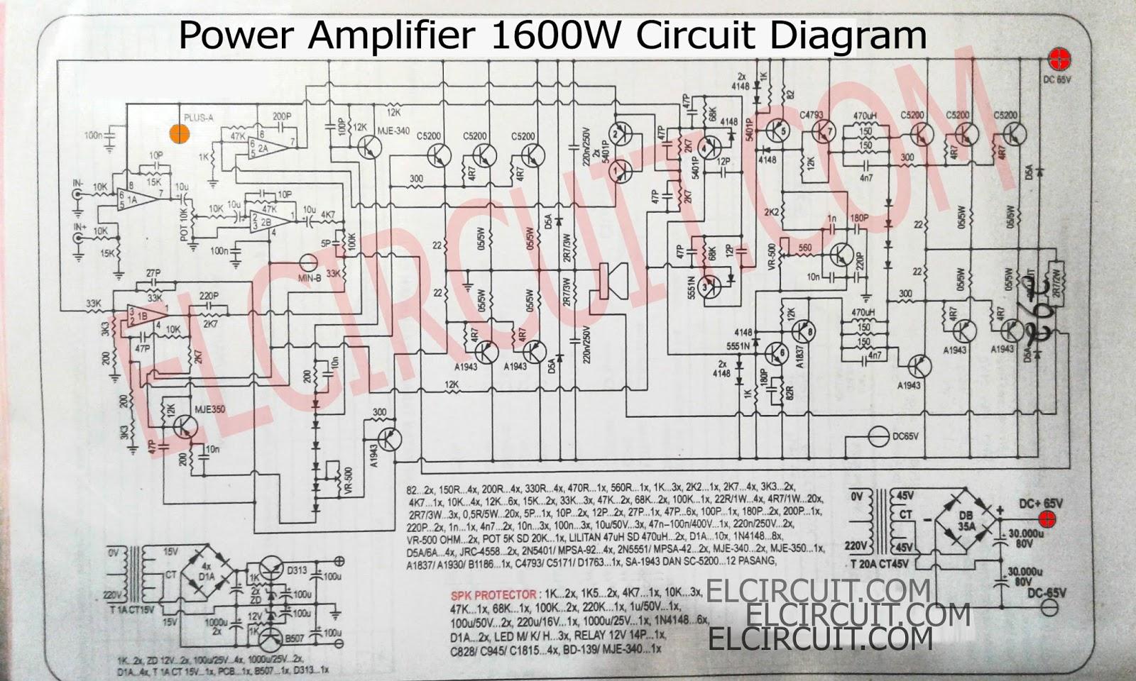 Eletr  nica Campo El  trico   Esquema amplificador 1600W