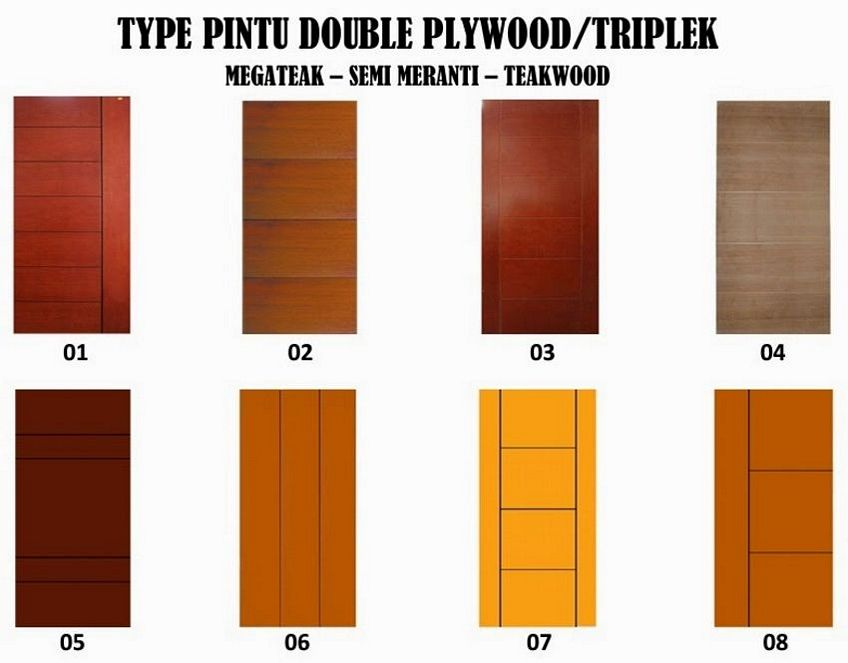 pintu double teakwood 1