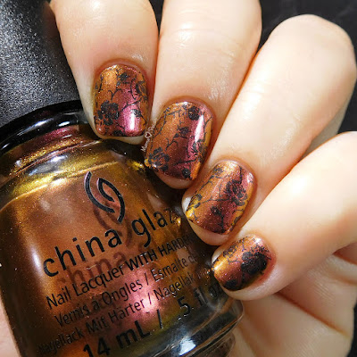 china-glaze-cabin-fever-black-rose-nail-art