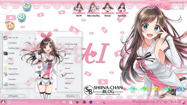 Windows 10 Ver. 1607 Theme Kizuna AI by Enji Riz