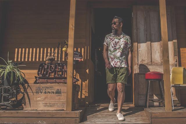アロハ ハンギング ヘリコニア ヴィンテージ ハワイアン シャツ 東洋 サンサーフ 日本製 シュガーケーン 着こなし コーディネート