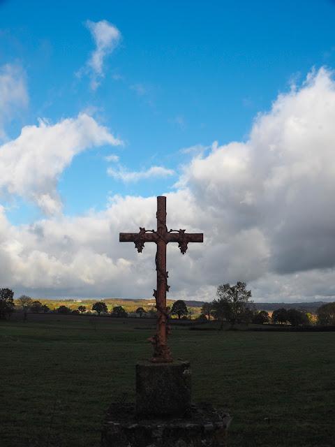 Allier, automne, herfst, kruis