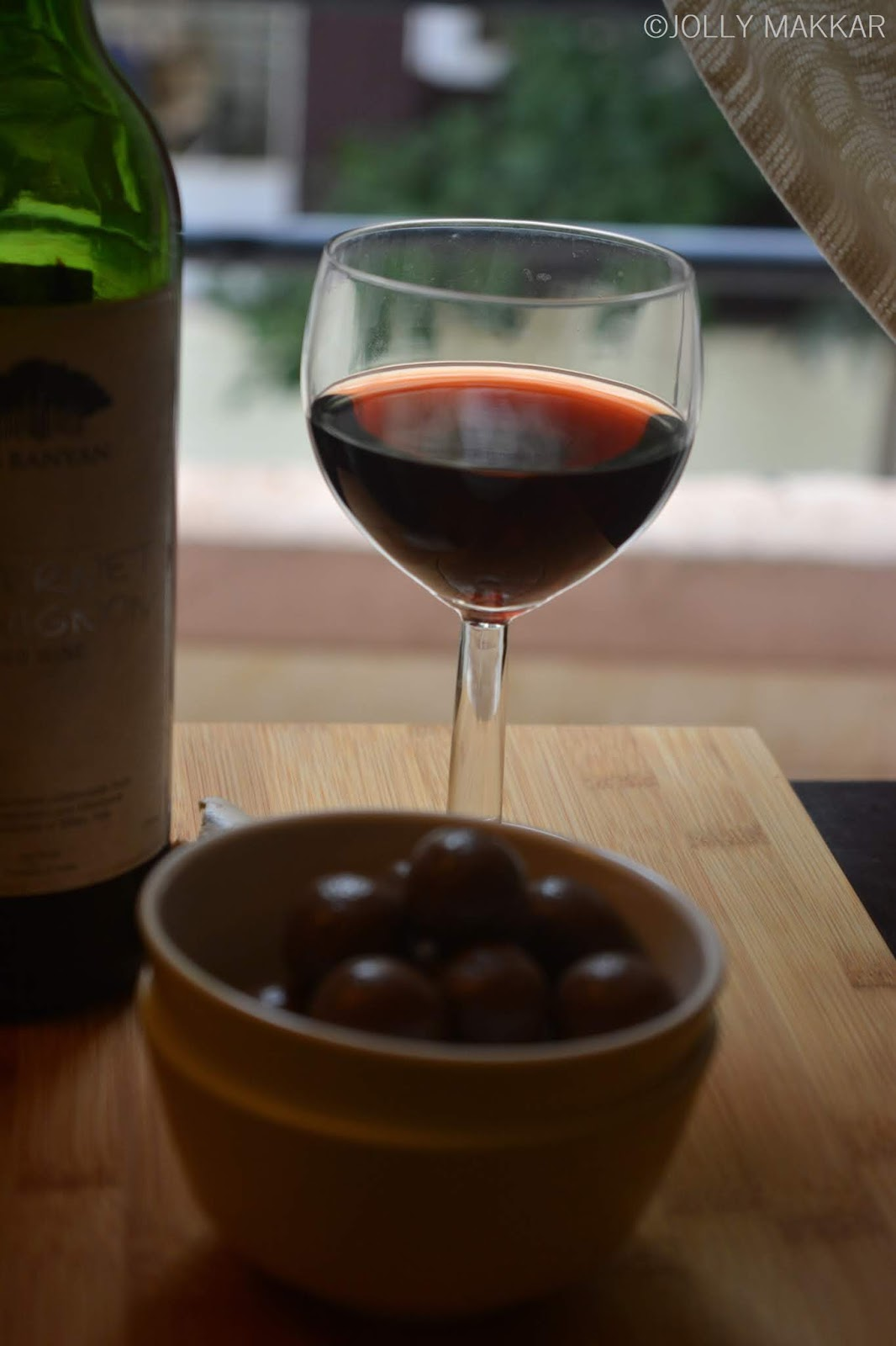 Red Wine with Chocolates