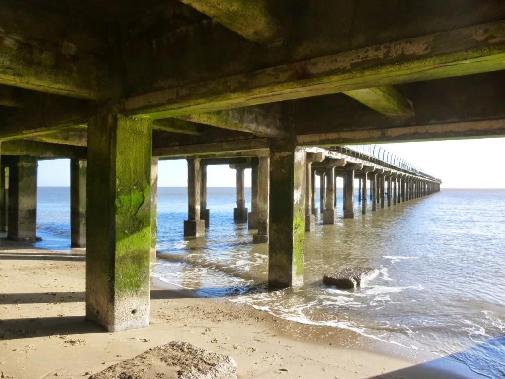Under Felixstowe pier