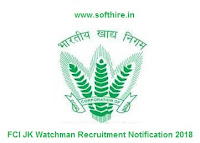 FCI JK Watchman Recruitment Notification