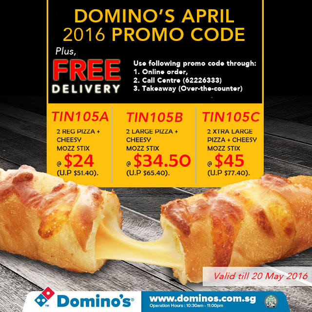 Domino's 2016 Coupon Code Singapore