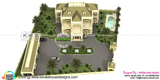 Colonial house rendering view 3