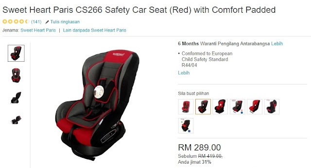 Sweet Heart Baby Carseat