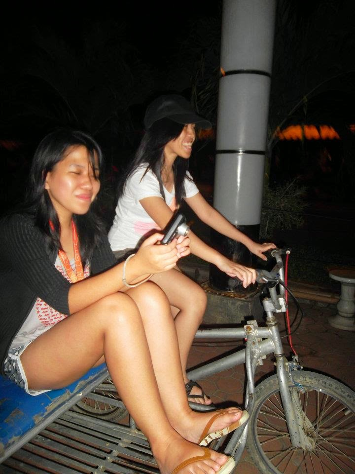 biking at Baywalk, Puerto Prinsesa