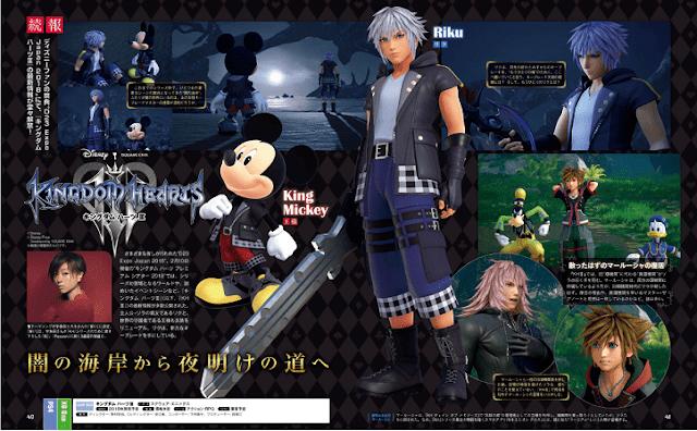 Kingdom Hearts 3: nuevas imágenes de diseños, mundos y más
