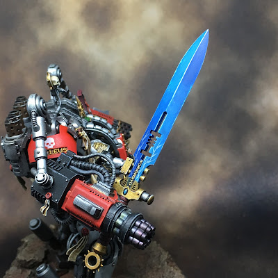 Grand Master in DreadKnight Armor sword close-up