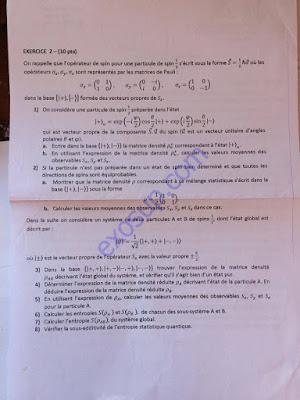 contrôle final physique statistique I smp5 fsr 2016/17