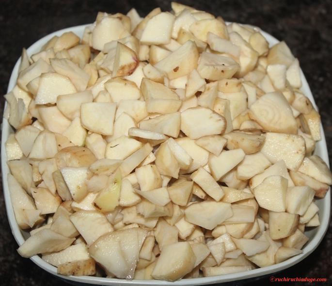 Ruchi Ruchi Aduge: Sambrani Gadde(Chinese Potato) Palya