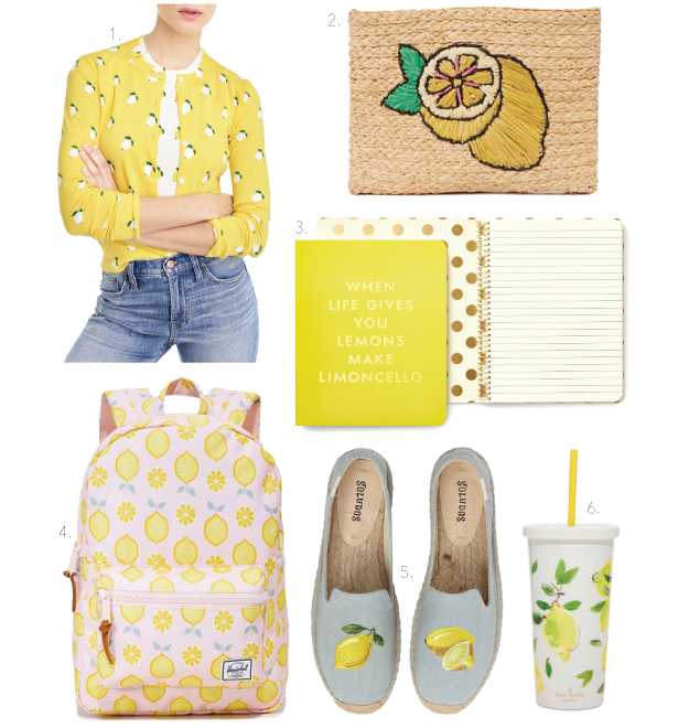 lemons yellow lemon print lemon printed spring trend summer trend