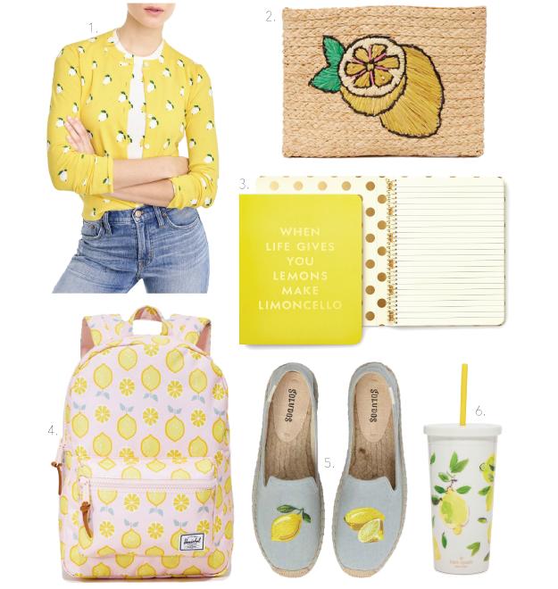 lemons yellow lemon print lemon printed spring trend summer trend
