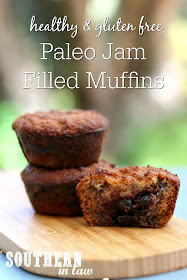 Healthy Paleo Jam Filled Muffins Recipe – gluten free, grain free, sugar free, healthy, breakfast, brunch, dessert