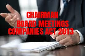 Chairman-Board-Meeting-Companies-Act-2013