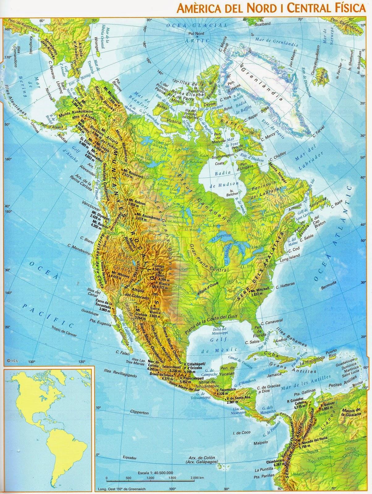 America Del Norte Mapa Fisico Mudo.Mapa De America Del Norte Mas De 250 Imagenes Para