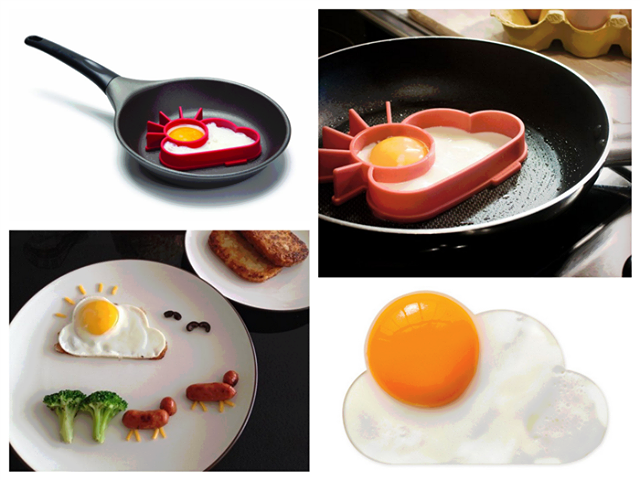 creative half fry egg like a cloud