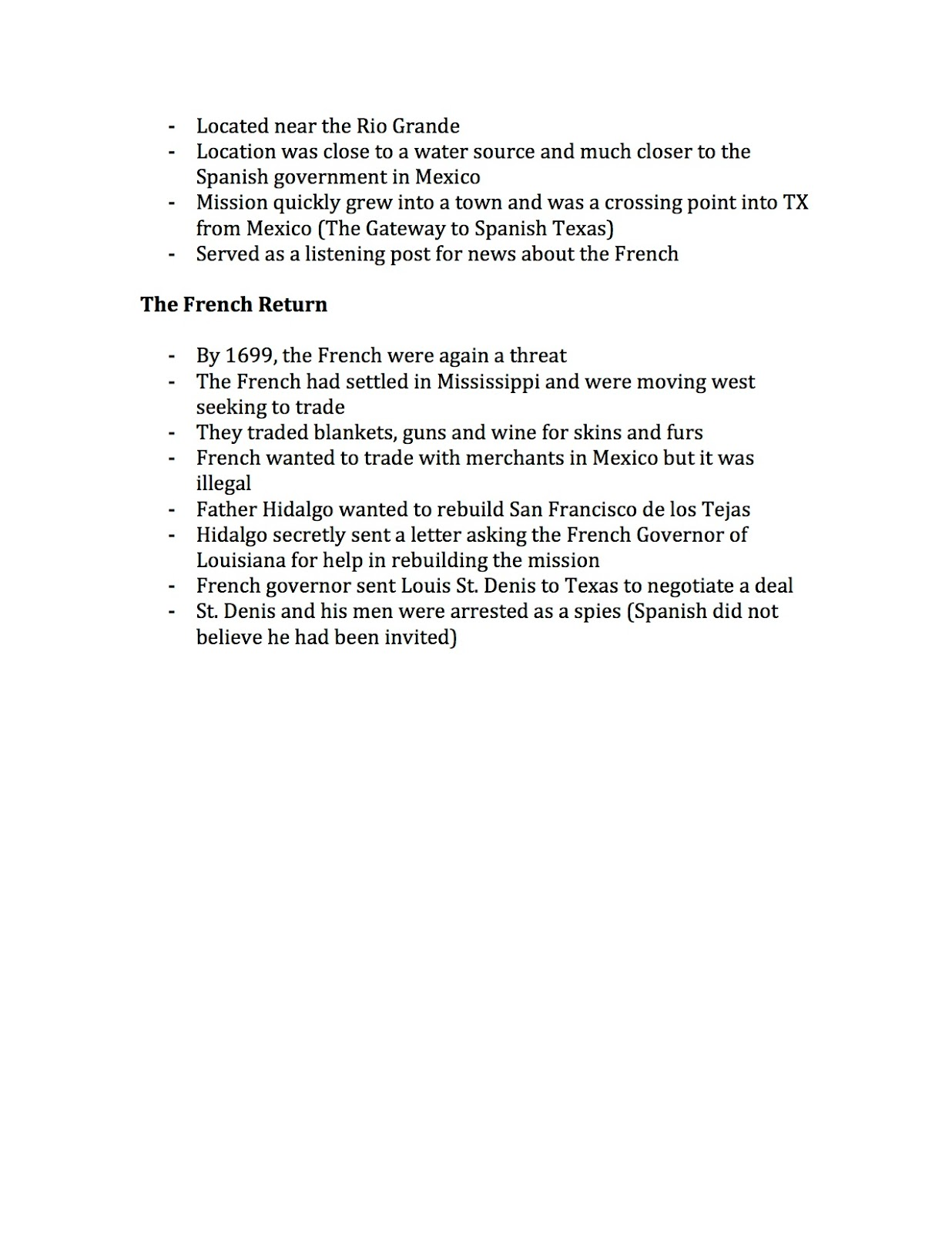 EHMS Texas History: Chapter 6 Vocabulary Due, Chapter 6