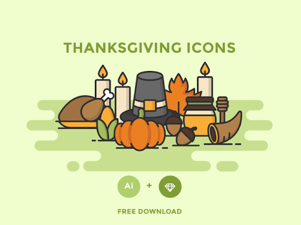 Download Vector Thanksgiving Icons Set Free