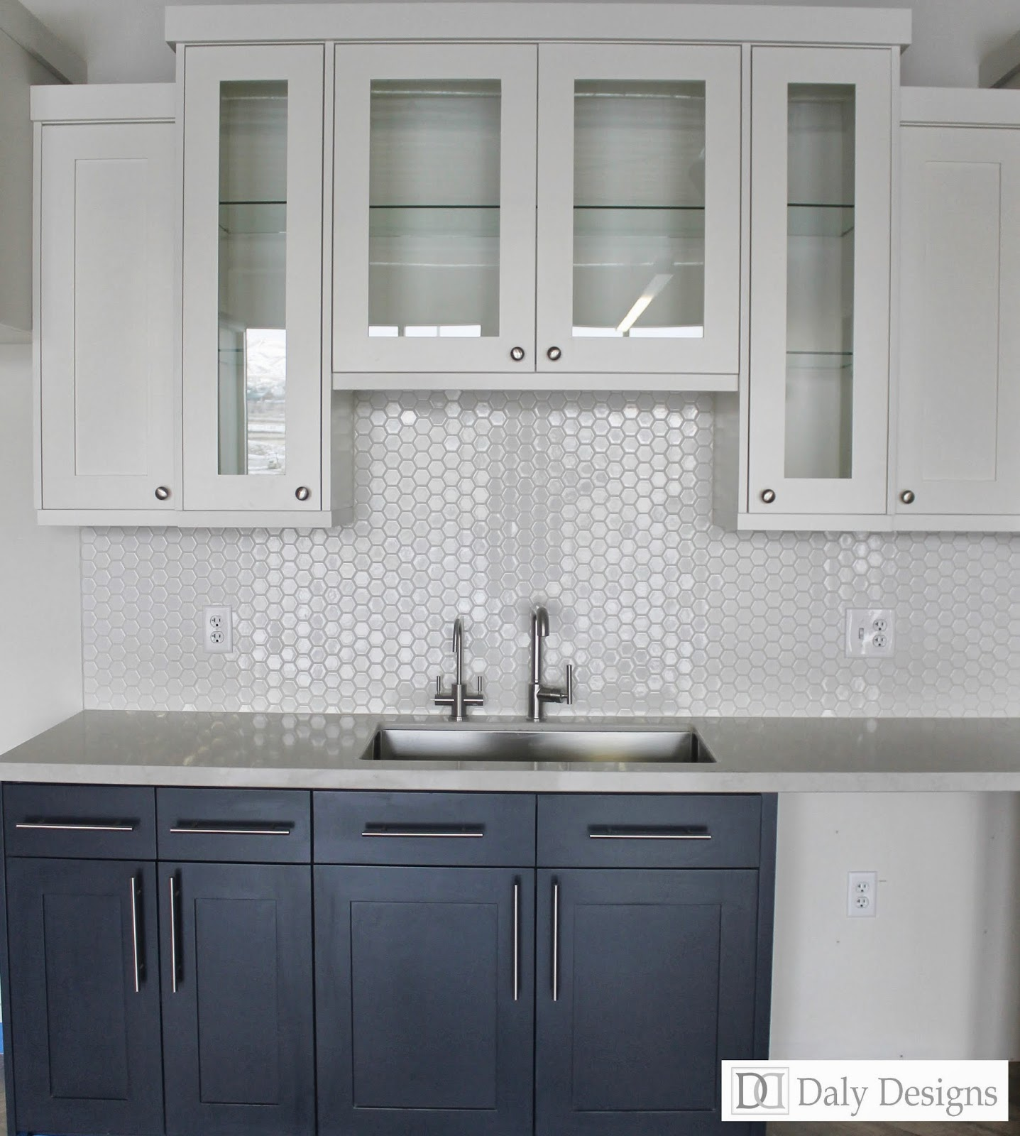 Tile Under Kitchen Cabinets: Daly Designs