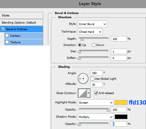 Bevel-and-emboss-settings-for-number-3-layer