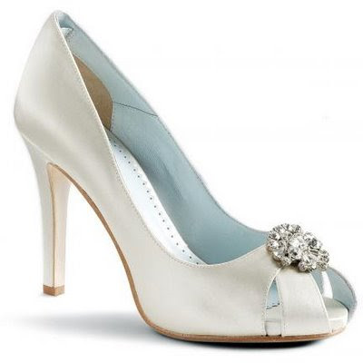 Women white wedding shoes 5