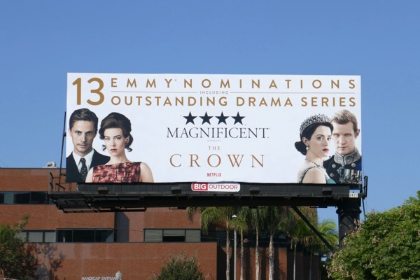 The Crown 2018 Emmy nominee billboard