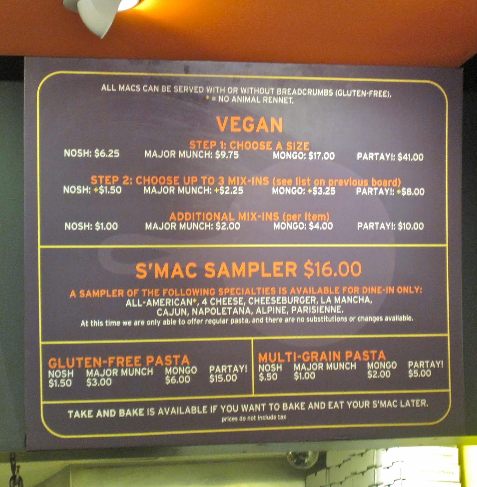 Vegan & Gluten-Free Menu Items at Sarita's Mac & Cheese