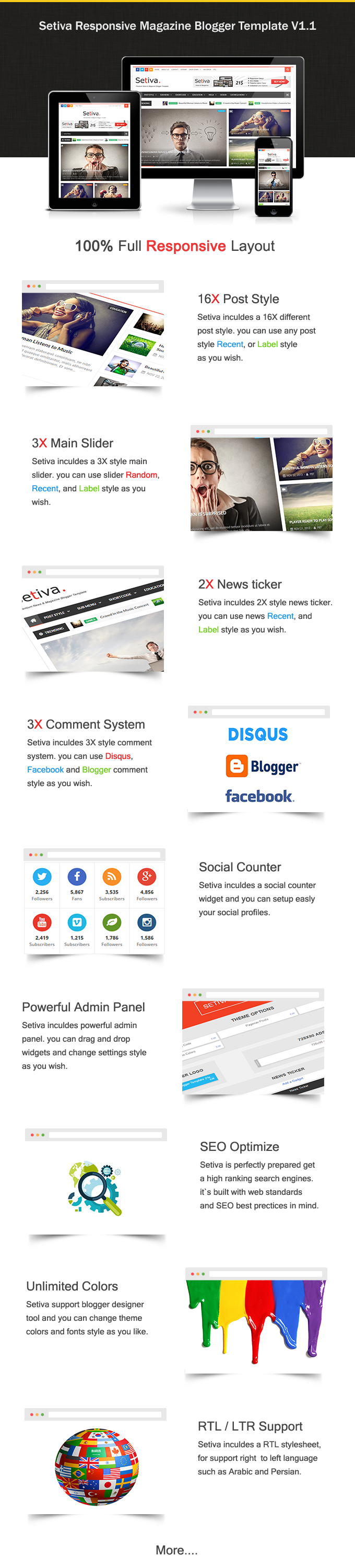 Setiva free blogger templates review