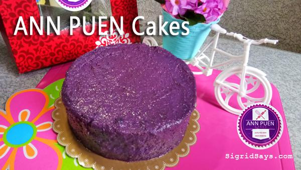 Ann Puen ube cake - Bacolod cakes