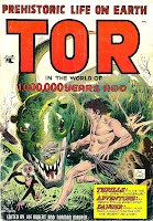 Tor v1 #4 st john golden age comic book cover art by Joe Kubert