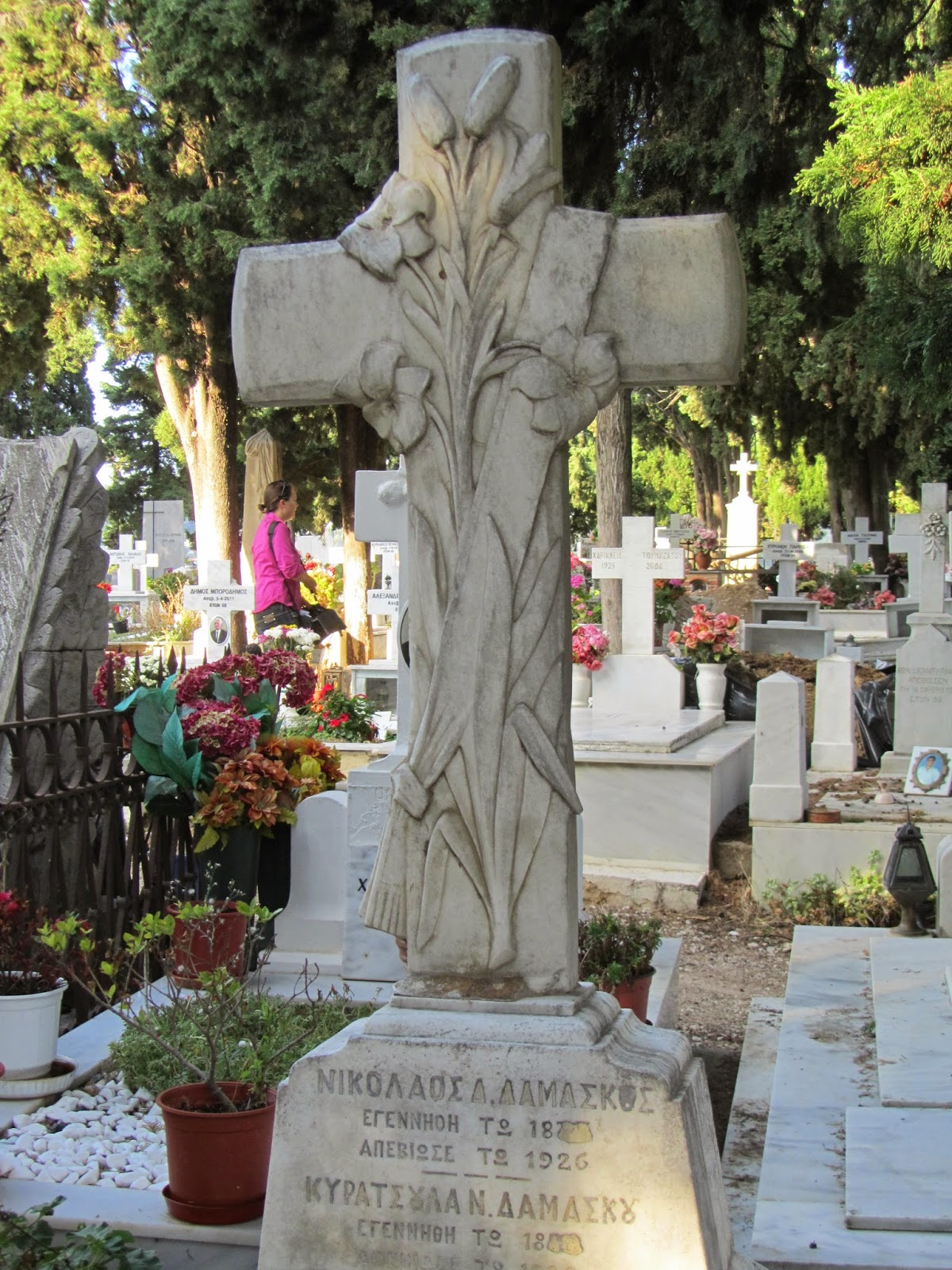 Cemetery of Skiathos (Skiathos island, Greece)