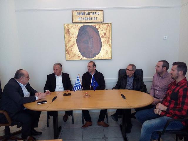 Επίσκεψη του Προέδρου της ΓΣΕΒΕΕ κ. Καββαθά στο Επιμελητήριο Θεσπρωτίας