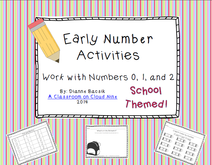 http://www.teacherspayteachers.com/Product/Early-Number-Activities-Working-with-Numbers-0-1-2-1378535