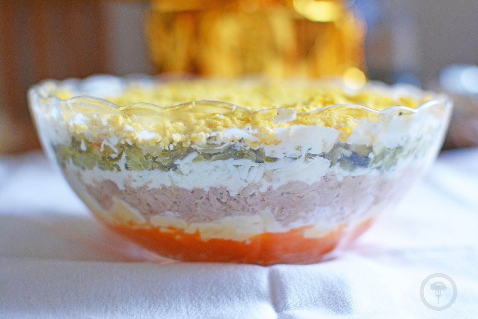 Salatka Warstwowa Z Tunczykiem Calzonella Com