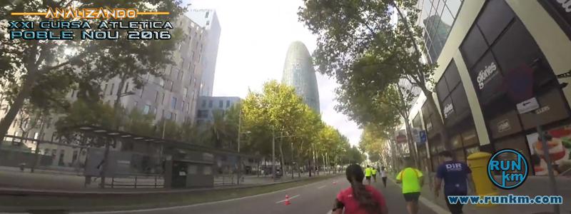 Segundo paso por la Avinguda Diagonal (8.8Km) - Analizando Cursa Poble Nou 2016