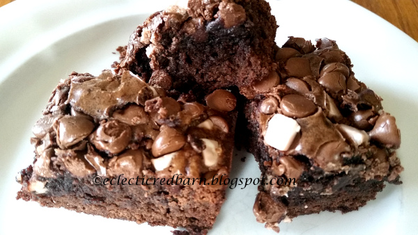 Eclectic Red Barn: Brownies with Smores Morsels Mix