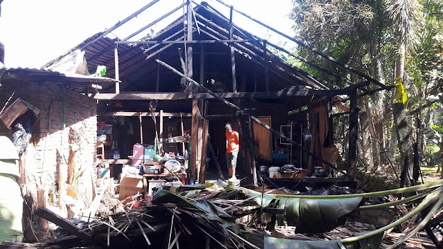 Rumah Janda, Tetangga Ketua Gerindra Luwu Terbakar