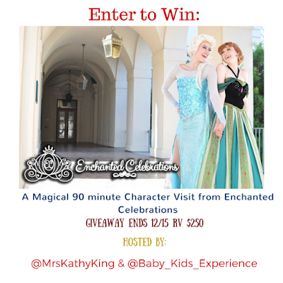 Enter the Enchanted Celebrations Baby & Kids Experience Giveaway. Ends 12/15